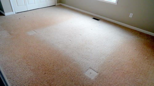 dirty carpet before being cleaned