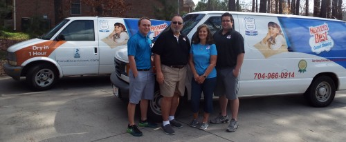 Frank and Crew at Heaven's Best Carpet Cleaning Hickory NC